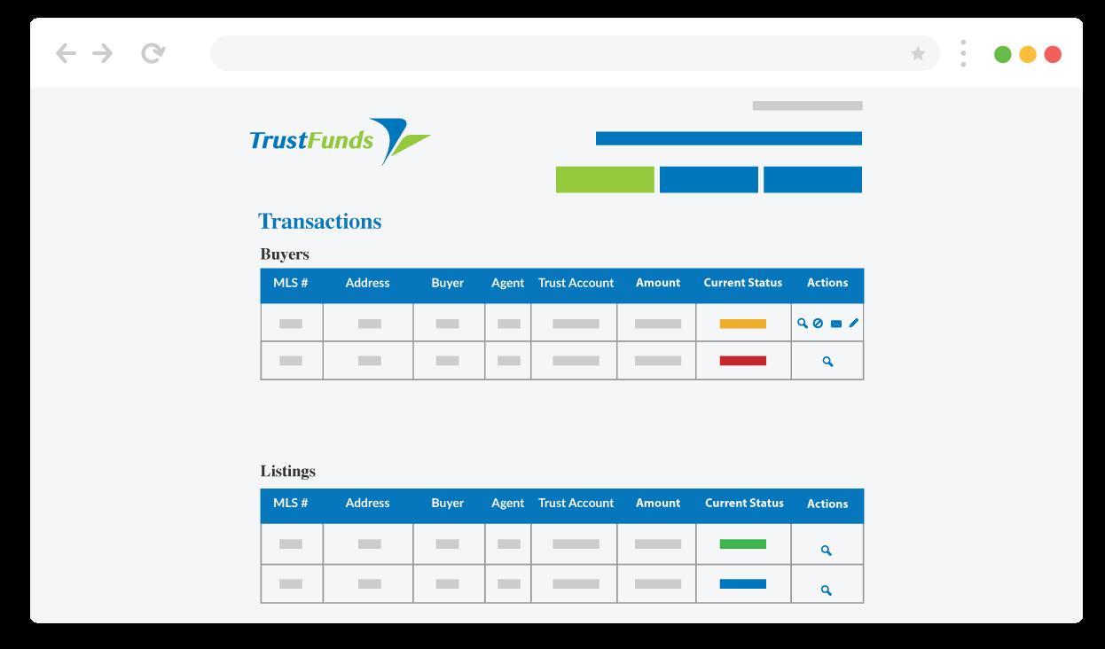 Real-time tracking screenshot