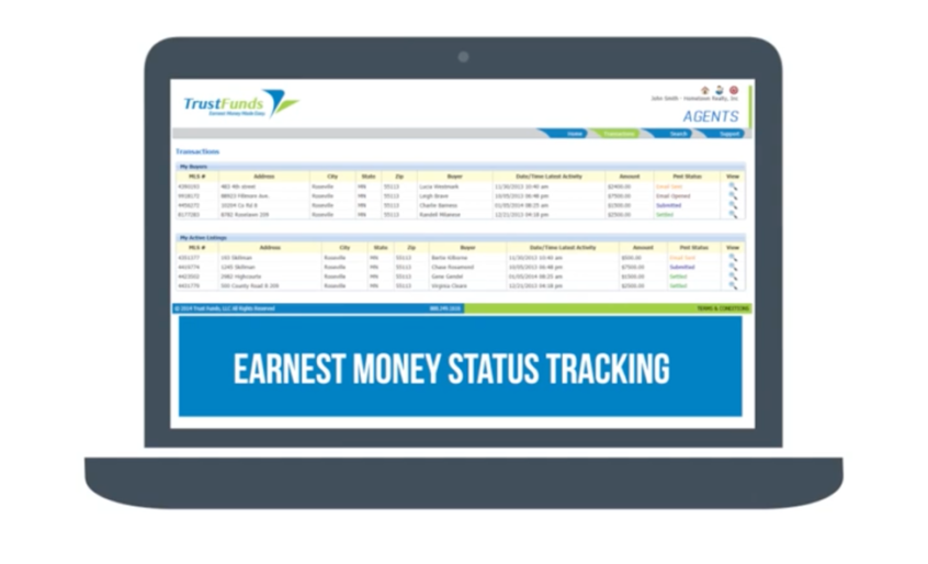 E-Money tracking Screenshot
