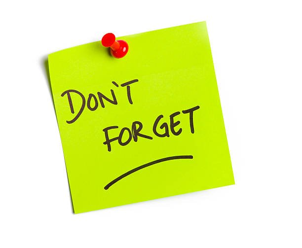 Post-It-Note Don't Forget